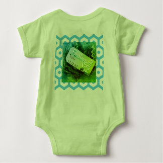 No Fuss    Luke 12:22 green Baby Bodysuit