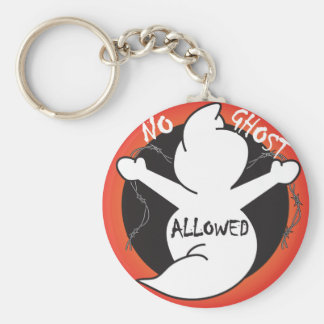 No Ghost Allowed | Halloween Basic Round Button Key Ring