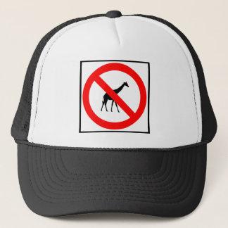 No Giraffes Highway Sign Trucker Hat