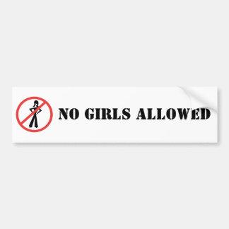 No Girls Allowed BumperSticker Bumper Sticker