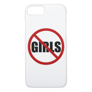 No Girls Allowed Sign Typography iPhone Case