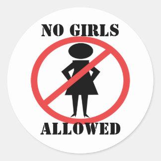 No Girls Allowed Sticker