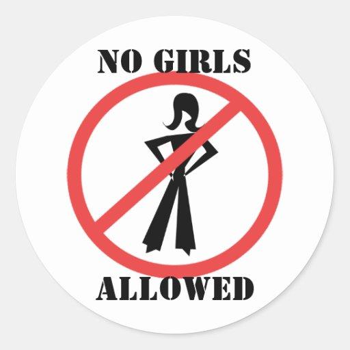 No Girls Allowed Stickers
