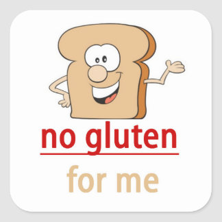 No gluten allergy alert square sticker