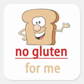 No gluten allergy alert sticker