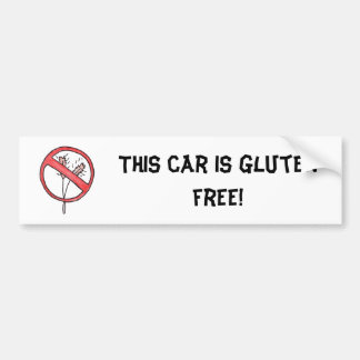 No gluten/Wheat Free! Bumper Sticker