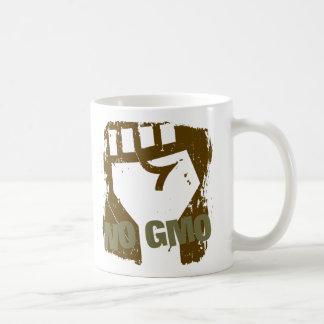 NO GMO Fist Basic White Mug