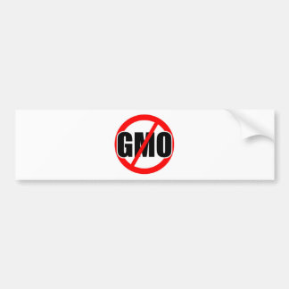 NO GMO - organic/mansanto/activism/protest/farming Bumper Sticker