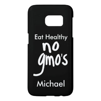 """No GMO's Eat Healthy Black Name Personalized"