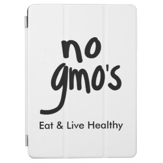 """""""No GMO's Eat Live Healthy Black Text Promotion iPad Air Cover"""