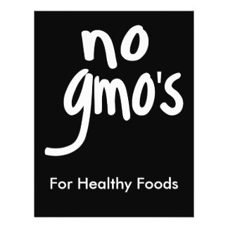 No GMO's for Heathy Food Promotional Black Flyers