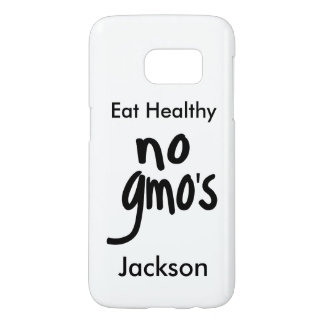 No GMO's Healthy Eating White Name Personalized