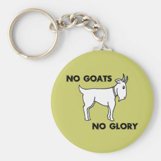 No Goats No Glory Basic Round Button Key Ring