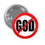 """NO GOD"" 3 CM ROUND BADGE"