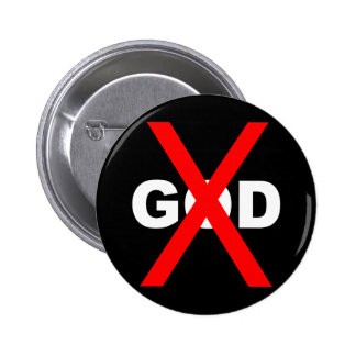 No God 6 Cm Round Badge