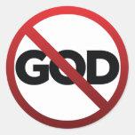 No God Round Sticker