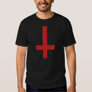 No Gods Before Me Inverted Cross T-Shirt