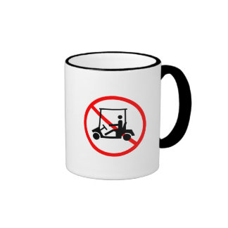 No Golf Carts Sign Mug