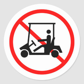 No Golf Carts Stickers