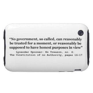 No government Can Reasonably Be Trusted Tough iPhone 3 Case