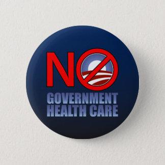 No Government Health Care 6 Cm Round Badge