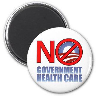 No Government Health Care 6 Cm Round Magnet