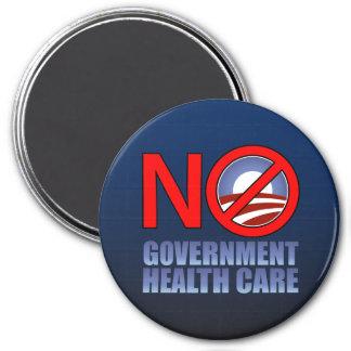 No Government Health Care 7.5 Cm Round Magnet
