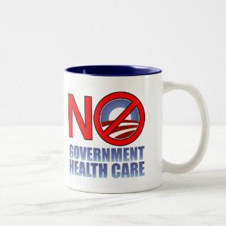 No Government Health Care Two-Tone Mug