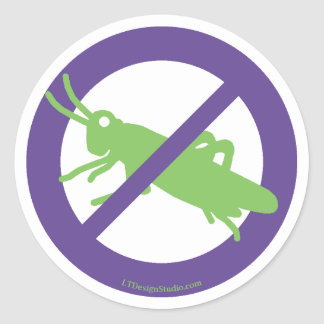 No Grasshoppers - Stickers