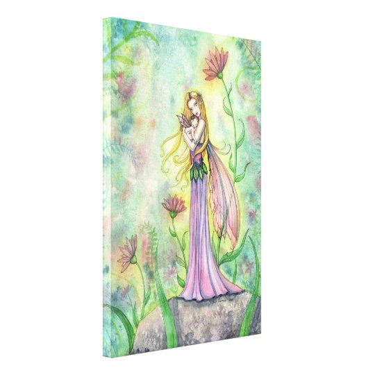 No Greater Gift Fairy Mother and Baby Canvas