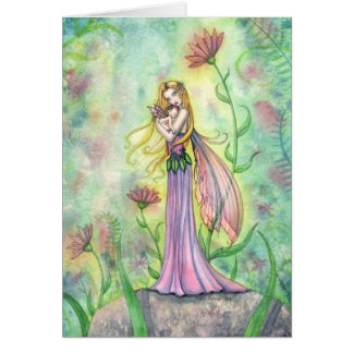 No Greater Gift Mother and Baby Fairy Card