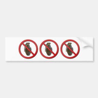 No Grenades Car Bumper Sticker