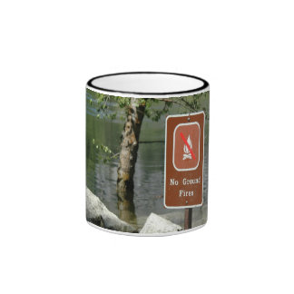 No Ground Fires Ringer Mug
