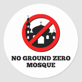No Ground Zero Mosque Classic Round Sticker