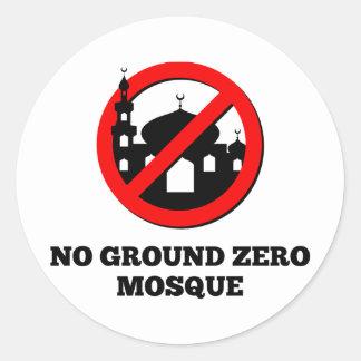 No Ground Zero Mosque Round Sticker