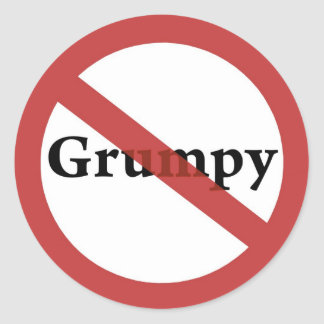 No Grumps Allowed! Stickers