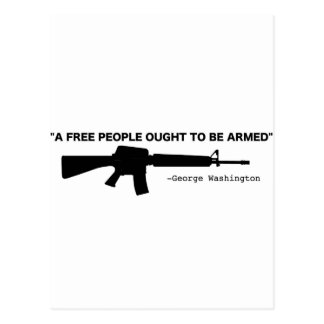 No Gun Control Postcard