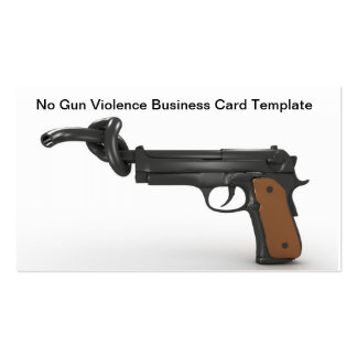 No Gun Violence Business Card Template