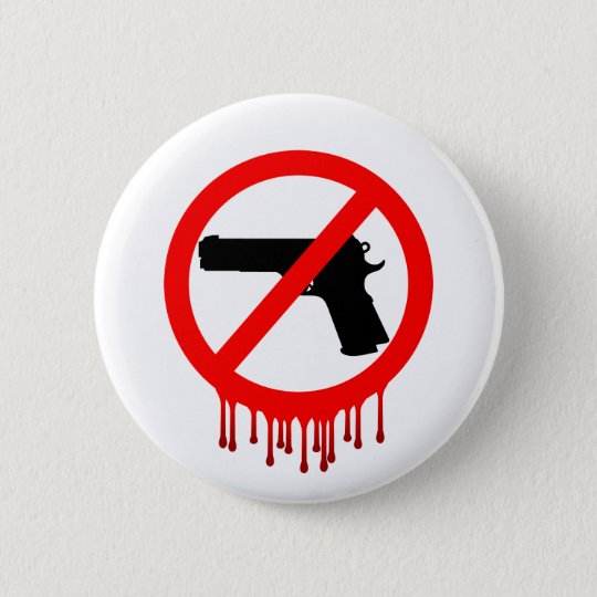 No Guns Allowed = Innocent Dead 6 Cm Round Badge