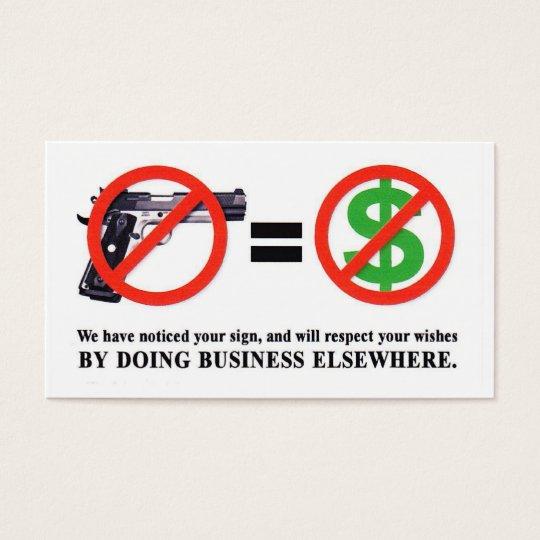 No Guns. No Money Card