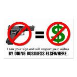 """No Guns, No Money"" Customisable Business Card"