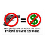 """No Guns, No Money"" Customisable Business Card"