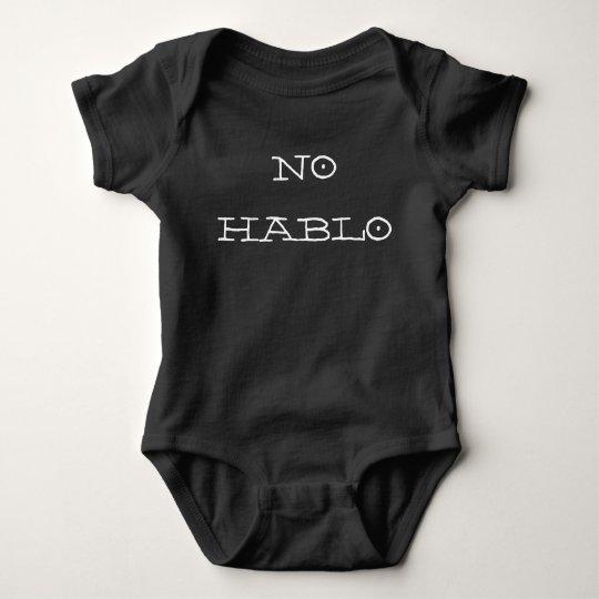 NO HABLO SPANISH BABY BODYSUIT