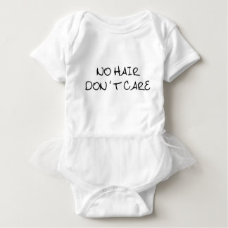 No Hair Don't Care Baby Tutu Bodysuit
