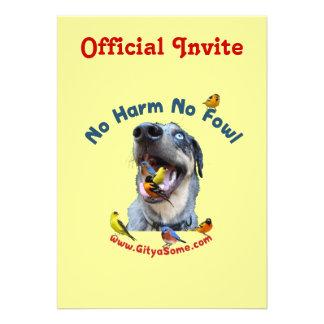 No Harm No Fowl Bird Dog Invite