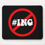 no hash tagging