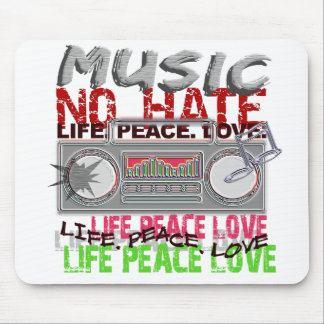 No Hate Music mousepad