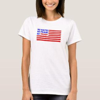 No Hate, No Fear, No Trump Flag Mini (Womens) T-Shirt