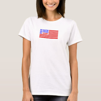 No Hate, No Fear, No Trump Flag Mini (Womens) T-Shirt