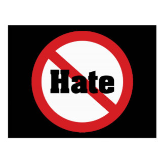 No Hate Postcard